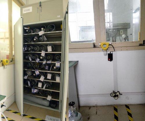 实验室气瓶间选用氧气气体检测仪1台